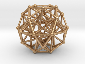 Tensegrity • Icosidodecahedron in Natural Bronze
