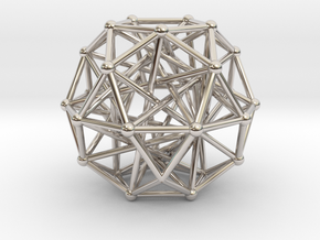 Tensegrity • Icosidodecahedron in Platinum