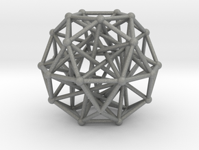 Tensegrity • Icosidodecahedron in Gray PA12