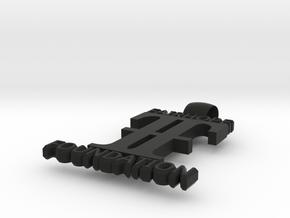 FairHope Pendant SOLID (Big) in Black Natural Versatile Plastic