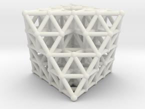 Octahedron fractal  in White Natural Versatile Plastic