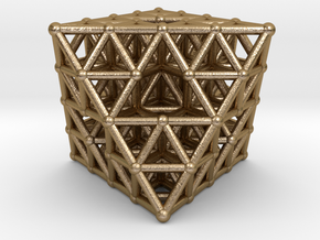 Octahedron fractal  in Polished Gold Steel