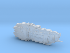 UNSC Valiant Super HeavyCruiser high detail in Smooth Fine Detail Plastic
