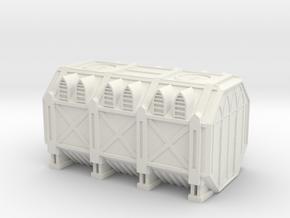 Grim Container 8mm in White Natural Versatile Plastic