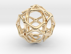 Icosidodecahedron Twisted members  in 14K Yellow Gold