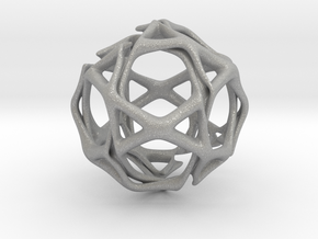 Icosidodecahedron Twisted members  in Aluminum