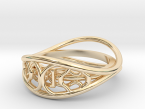 Ring two-sided in 14K Yellow Gold: 7 / 54
