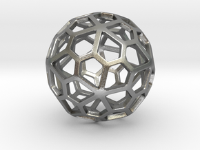 Pentagonal Hexecontahedron in Natural Silver: Small