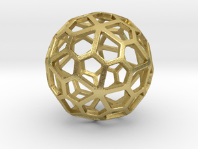 Pentagonal Hexecontahedron in Natural Brass: Small