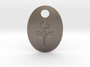 pendant in Polished Bronzed-Silver Steel