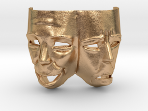 Theater Masks in Natural Bronze