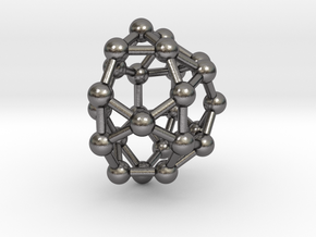 0814 J33 Pentagonal Gyrocupolarotunda (a=1cm) #3 in Polished Nickel Steel