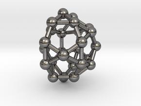 0814 J33 Pentagonal Gyrocupolarotunda (a=1cm) #3 in Polished Nickel Steel