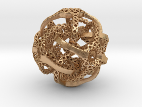 Cubic Octahedral Symmetry Perforation  Type 2 in Natural Bronze