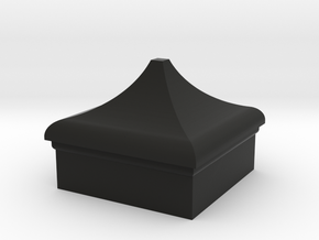 VR Signal Finial (Square Cap) 1:19 scale in Black Natural Versatile Plastic