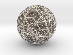 Hedron Star compound in Rhodium Plated Brass
