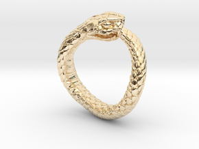 Ouroboros Snake Ring in 14K Yellow Gold: 2 / 41.5