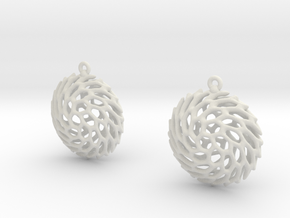Earrings Hueso 2215 in White Natural Versatile Plastic