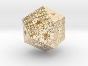 Sierpiński Fractal in 14k Gold Plated Brass