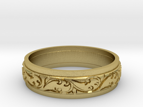 Paisley ring size 6.5 in Natural Brass