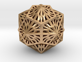 Icosahedron Dodecahedron Compound in Natural Bronze