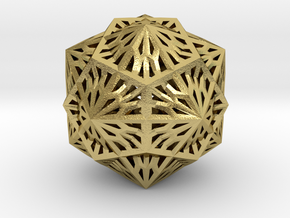 Icosahedron Dodecahedron Compound in Natural Brass