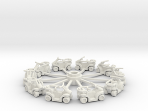 Quadrunners with sweeps in White Natural Versatile Plastic