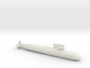 PLA[N] 093B Submarine, Full Hull, 1/1800 in White Natural Versatile Plastic