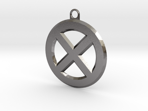 X-Logo Key Chain in Polished Nickel Steel