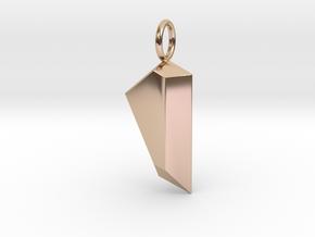 Gem Pendant in 14k Rose Gold Plated Brass