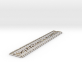 Nameplate Royal Aircraft Factory S.E.5 in Rhodium Plated Brass