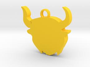 Hodag keychain in Yellow Processed Versatile Plastic