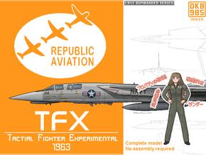 Republic TFX Fighter Proposal in Black Natural Versatile Plastic: 1:200