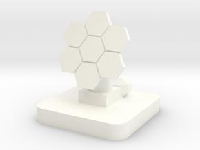 Mini Space Program, Solar Array 2 in White Processed Versatile Plastic