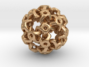 Nested Rhombic Triacontahedron  in Natural Bronze