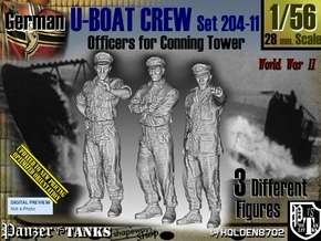 1/56 German U-Boot Crew Set204-11 in Smooth Fine Detail Plastic