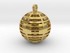 Alien base pendant in Polished Brass