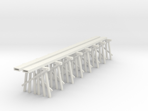Part C Trestle N (1:160) Modular Six Piles in White Natural Versatile Plastic