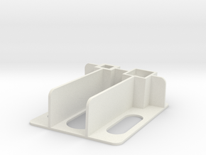 Flat Wing Nano Talon - Right Side Plate in White Natural Versatile Plastic