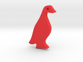 Duck Silhouette Keychain in Red Processed Versatile Plastic