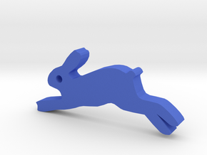 Hare Silhouette Keychain in Blue Processed Versatile Plastic