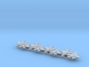 F-35A w/Gear x8 (FUD) in Smooth Fine Detail Plastic: 1:700