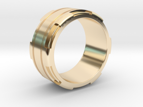 Men's Band Ring #1 in 14K Yellow Gold