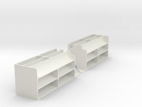 1/6 M5 Stuart Exhaust Deflectors Set002 in White Natural Versatile Plastic