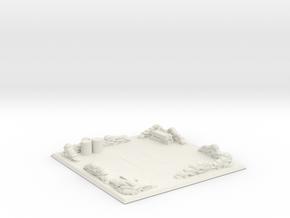 Small medical landing pad in White Natural Versatile Plastic