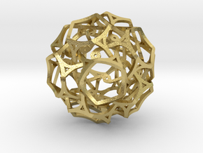 Soccer ball Cage work in Natural Brass