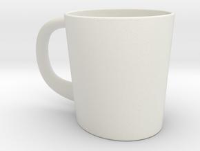 Ellipsoid Mug in White Natural Versatile Plastic