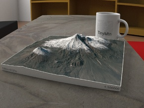 Mt. Ararat, Turkey, 1:100000 Explorer in Natural Full Color Sandstone