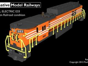 TTE3301 TT scale E33 loco - New Haven in Smooth Fine Detail Plastic