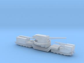 soviet railway artillery TM-1-180 1/144 in Smooth Fine Detail Plastic
